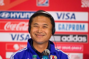 Japan head coach Norio Sasaki says his team is motivated to beat England in Wednesday's semifinal. (AFP)