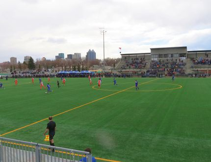 FC Edmonton hopes to bring the same atmosphere as its games at Clarke Stadium to Shell Place starting this Sunday. ANDREW BATES/TODAY STAFF