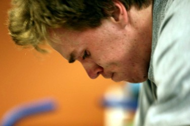 Connor McDavid goes through his medical tests at Rexall Place in Edmonton, Alberta on Wednesday, July 1, 2015.  Perry Mah/Edmonton Sun/Postmedia Network