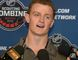 Jack Eichel reacts to a question at a news conference during the NHL Combine in Buffalo on June 5, 2015. Eichel signed his first professional contract on Wednesday, opting to skip his final three years of college eligibility. (THE CANADIAN PRESS/AP/Gary Wiepert)
