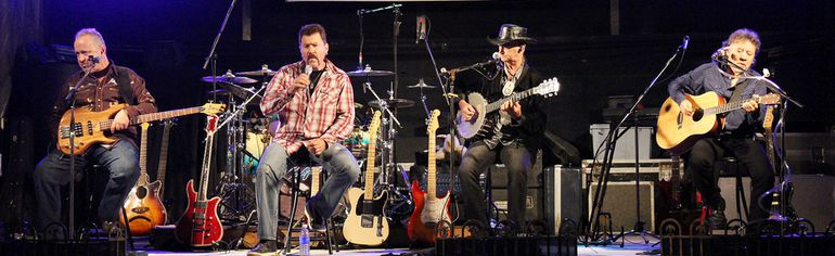 Hotel California – from left to right: Andy Lapointe, Dean Young, Rick Spyder and Mike Dimoulas. (Steph Smith/Goderich Signal Star)
