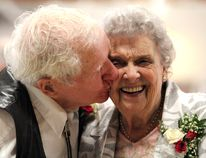 Fred and Iris Middleton, married for 70 years.