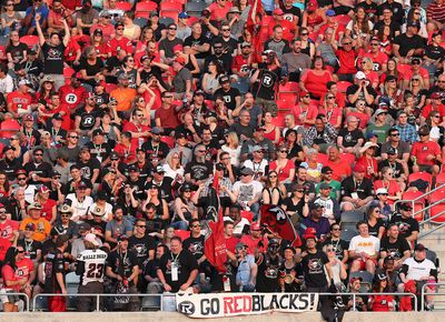 The Ottawa RedBlack's fans during the Redblacks home opener against the BC Lions at TD Place in Ottawa Ont. Saturday July 4, 2015. Tony Caldwell/Ottawa Sun/Postmedia Network