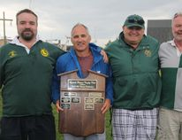 Doug Lawrence, Victor Hamel, Dan Sieben and George Thomlison were unveiled as the 2015 inductees into the Grande Prairie Rugby Club's Wall of Fame, on Saturday July 4, 2015 at Macklin Field in Grande Prairie, Alta. The Wall of Fame recognizes past members for their service and dedication. Logan Clow/Grande Prairie Daily Herald-Tribune/Postmedia Network