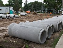 Replacement of water mains and sewers is underway on Alexander Drive and Watson Avenue in Holmedale. The project is an example of the many projects that the city must complete to stay on top of its infrastructure deficit. (BRIAN THOMPSON / The Expositor)