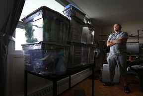 Mark Legault poses for a photo in his Carling Ave. apartment in Ottawa Tuesday July 7, 2015. Mark's apartment was infested with bed bugs and now he is moving out.  Tony Caldwell/Ottawa Sun/Postmedia Network