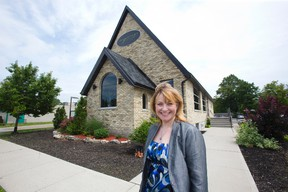 Laura Owen is co-owner of The Springs Restaurant, which was converted from a crumbling church to an eatery during a three-year renovation costing more than $1 million. (DEREK RUTTAN, The London Free Press)
