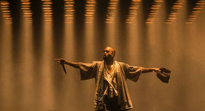 Kanye West performing on the Bell Stage at Bluesfest in Ottawa, Ont. on Friday July 10, 2015. Errol McGihon/Ottawa Sun/Postmedia Network