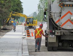 The rebuilding of a section of Blackwell Sideroad, south of London Line, is seen in this file photo from the summer of 2015 in Sarnia, Ont. (Paul Morden, The Observer)