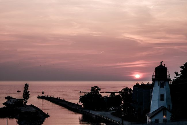 PICTURED: The view of Kincardine Harbour from the Bruce Telecom Main Stage at the Kincardine Lighthouse Blues Festival. (STEVEN GOETZ/KINCARDINE NEWS)