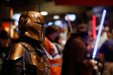 'Star Wars' themed fans mingle the concourse in honor of 'Star Wars' night before the MLB game between the Arizona Diamondbacks and the San Francisco Giants at Chase Field on July 18, 2015 in Phoenix, Arizona. (Christian Petersen/Getty Images/AFP)
