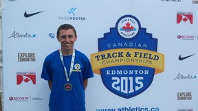 Local athlete, Royden Radowits, brought home silver from the Canadian Track and Field Championships held in Edmonton from July 2 to 5, 2015. Radowits competed at the Men's 5000-metre Run Junior competition. Radowits will also be representing Canada at the Panamerican Junior Athletics Championships from July 31 to Aug. 2, 2015 in Edmonton.