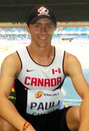 Cody Pauli, of Mitchell, finished 13th in the 400-metre hurdles at the IAAF World Youth track and field championships last week in Colombia. SUBMITTED