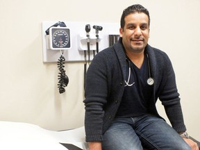 Dr. Justin Mall is helping treat athletes at the Pan Am Games soccer facility in Hamilton this week. The doctor is a member of the Central Lambton Family Health Team at Petrolia. (File photo)