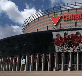 Visitors to the Canadian Tire Centre will have to go through metal detectors, and will not be able to exit and re-enter the building under new security measures to be implemented Sept. 20. (Ottawa Sun Files)