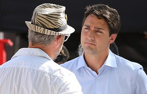 Liberal leader Justin Trudeau supports Glenn Price's medical marijuana dispensary, despite the fact the business has not been granted a license to deal by Health Canada. (Kevin King/Winnipeg Sun)