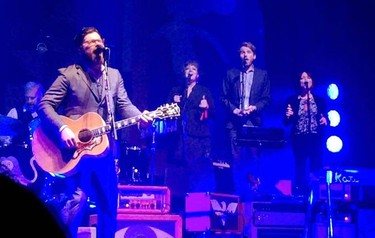Winnipegger Jeremy Sawatzky, through a twist of fate, was asked to join folk rock superstars The Decemberists to perform on stage during their performance at the Burton Cummings Theater on Wednesday, July 22, 2015.