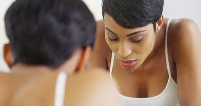 """Skipping a wash: """"Not washing your face: either before bedtime or say after a hot yoga class, will leave make up, dirt, and bacteria lingering,"""" says Tina Griffin. Be sure to use a cleanser that contains ingredients such as vitamin A, E, C and salicylic acid to fight free radicals, and don't forget to exfoliate."""