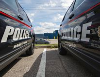 Brantford Police vehicles, photographed on Wednesday July 22, 2015 at the Elgin Street station in Brantford, Ontario. For future use as art for police-related stories. Brian Thompson/Brantford Expositor/Postmedia Network