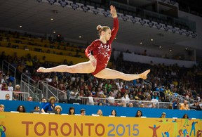 Gymnast Ellie Black won five medals at the Pan Am Games, including three golds.(The Canadian Press)