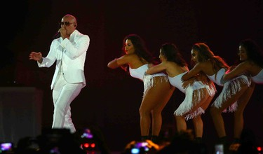 Pitbull performs during the closing ceremonies of the 2015 Pan Am games in Toronto, Ont. on Sunday July 26, 2015. Dave Abel/Toronto Sun/Postmedia Network