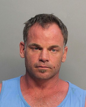 A mugshot provided by the Miami-Dade Dept. of Corrections of former Kingston Frontenac and National Hockey League player David Ling, 40,  on Wednesday. Ling was arrested for domestic battery and  Grand Theft third degree by Miami Beach police after an incident in a Miami Beach hotel on Tuesday night. (Ian MacAlpine/The Whig-Standard)