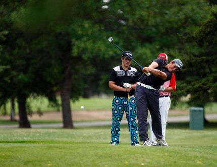 Max Sekulic, celebrating his 16th birthday, watches his tee shot on the back nine of the Peace Country Junior Tour on Tuesday July 28, 2015 at the Grande Prairie Golf and Country Club in Grande Prairie, Alta. Tom Bateman/Grande Prairie Daily Herald-Tribune/Postmedia Network