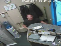 Portage la Prairie RCMP are looking for a man who stole an undisclosed amount of cash from a local business on July 22. At about 7 p.m., a man entered the Prairie Rock Car and Truck Wash in Portage stole money from the buisness and fled. The suspect is described as a white male with dark shaved hair. The suspect was wearing a dark T–shirt and blue jeans and has a tattoo on his upper right bicep. (Photo courtesy of RCMP)