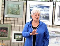 Marilyn Mills, shown here at Art in the Park in 2014, launched the annual art event in 2000.