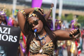 An image from last year's Toronto Caribbean Carnival parade. (VERIONICAL HENRI, Toronto Sun)