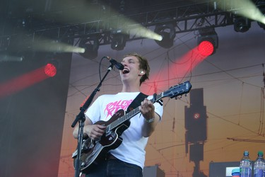 British singer-songwriter George Ezra performs at the Osheaga Music and Arts Festival in Montreal on Friday, July 31, 2015. (John Williams, Postmedia Network)