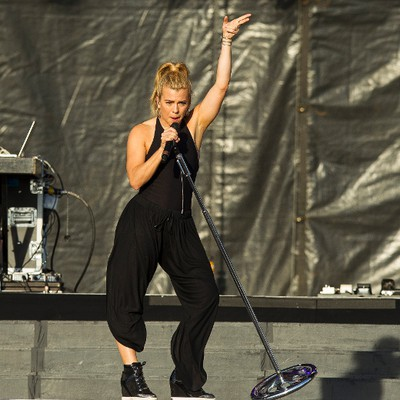 Kimberly Perry of The Band Perry performs on the main stage during Big Valley Jamboree 2015 in Camrose, Alta. on Friday July 31, 2015. Ian Kucerak/Edmonton Sun/Postmedia Network