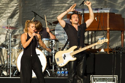 The Band Perry, including Kimberly Perry (left) and Reid Perry, perform on the main stage during Big Valley Jamboree 2015 in Camrose, Alta. on Friday July 31, 2015. Ian Kucerak/Edmonton Sun/Postmedia Network