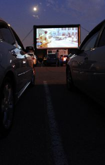 Deerfoot Mall drive-in movie