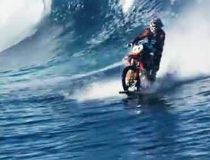 A screen grab from Robbie Maddison's new film 'Pipe Dream'. (YouTube)