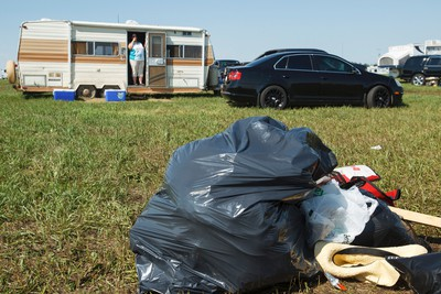 A cleaned up campsite is seen during cleanup after Big Valley Jamboree 2015 in Camrose, Alta. on Monday August 3, 2015. Ian Kucerak/Edmonton Sun/Postmedia Network