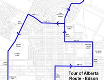 The route for the Tour of Alberta in Edson will begin at Talisman place on September 6.