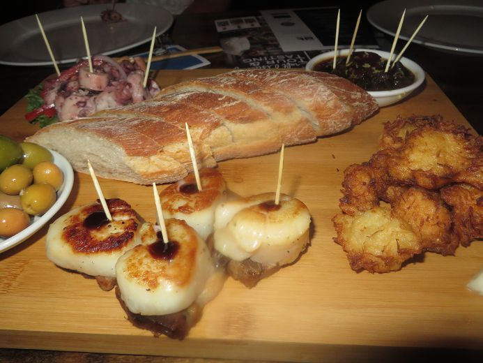 The Pinchos (tapas-like) seafood board featured in the August-long SABOR Restaurant Seafood Festival.