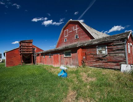 The Davy family's 110-year-old barn situated on their farm north of 8th Street. The family recently sold their farm, which has been in the Davy family since they settled in Airdrie 120 years ago