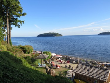 Absolute Heaven is a wonderful B & B in Sechelt, B.C. with a fine beach and pretty gardens. (Jim Byers/Special to Postmedia Network)