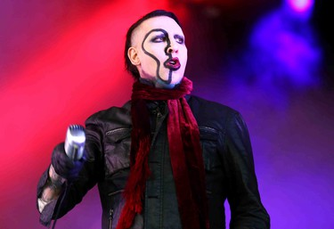 Marilyn Manson performs at the Molson Amphitheatre in Toronto, Ont. on Tuesday August 4, 2015. Dave Abel/Toronto Sun/Postmedia Network