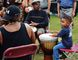 Four-year-old Tayvian Potter shows he can drum with the big boys as he tackles the Djembe at Barrie's 2015 Rhythmfest at Heritage Park. The festival takes place this year from Aug. 12 and Aug. 13. J.T. McVeigh Photo