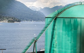 Kinder Morgan Trans Mountain Pipeline Westridge Marine Terminal in Burnaby, B.C. is pictured in this file photo. (Postmedia Network files)