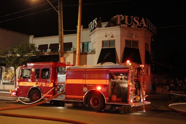 Toronto Fire battled a three-alarm fire at Pusateri's on Avenue Rd. near Lawrence Ave. W.  on Aug. 15, 2015. (Nick Westoll/Toronto Sun)