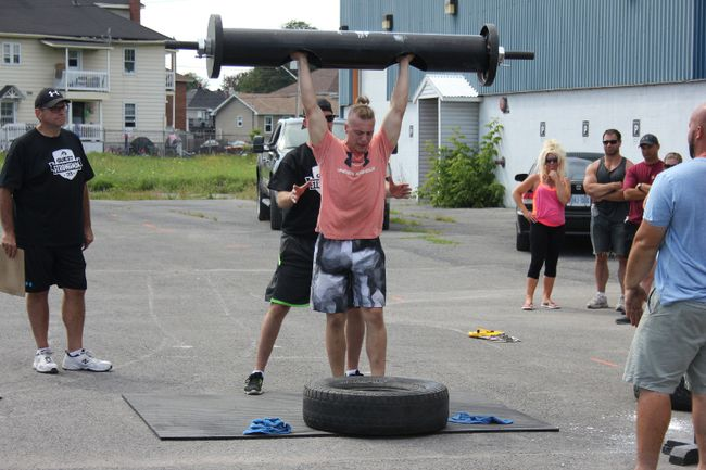 <p>Cornwall's Cameron David at the Quest Gym Strong Man Challenge on Saturday August 15, 2015 in Cornwall, Ont. Lois Ann Baker/Cornwall Standard-Freeholder/Postmedia Network