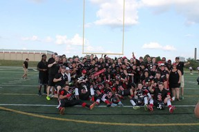 The Myers Riders JV team won the OVFL championship in Waterloo after losing in the final the past two years. SUBMITTED PHOTO