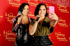 Demi Lovato receives the ultimate 23rd birthday gift from Madame Tussauds Hollywood: her own wax figure on August 17, 2015 in Hollywood, California.  Rachel Murray/Getty Images for Madame Tussauds Hollywood/AFP
