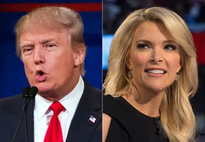 Republican presidential candidate Donald Trump and Fox News Channel host and moderator Megyn Kelly. (AP Photo/John Minchillo, File)