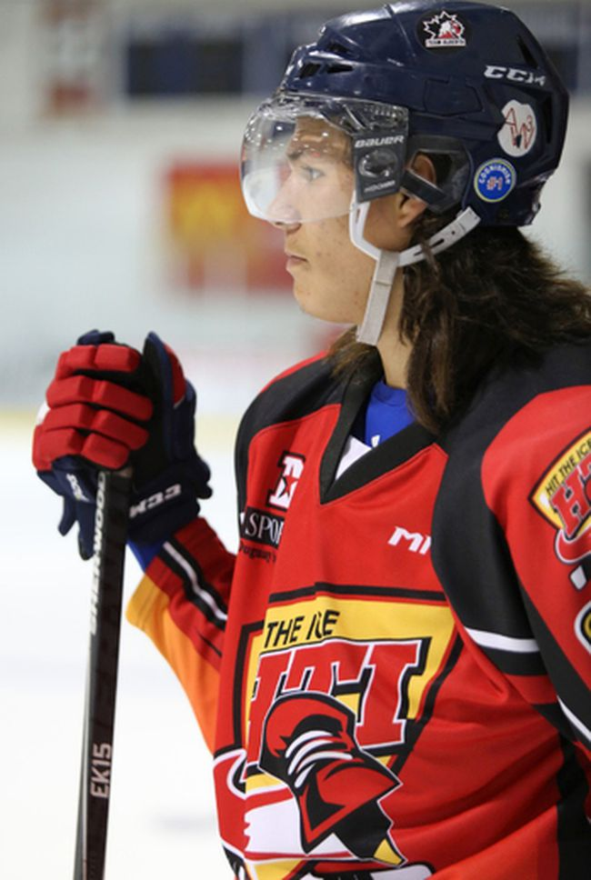 Lane Lightning took part in the filming of the fourth season of APTN's Hit The Ice this summer.
