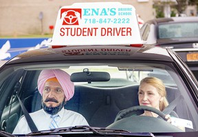 """Ben Kingsley and Patricia Clarkson in """"Learning to Drive."""""""